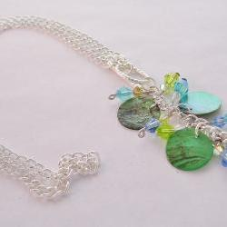Paua Shell and Crystal Necklace